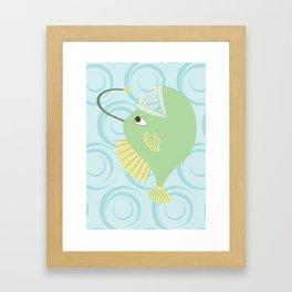 Shock Cousteau Angler Fish Framed Art Print