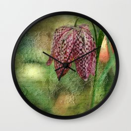 Every flower enjoys the air it breathes... Wall Clock