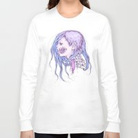 gore Long Sleeve T-shirts featuring Pastel Gore Girl by Savannah Horrocks
