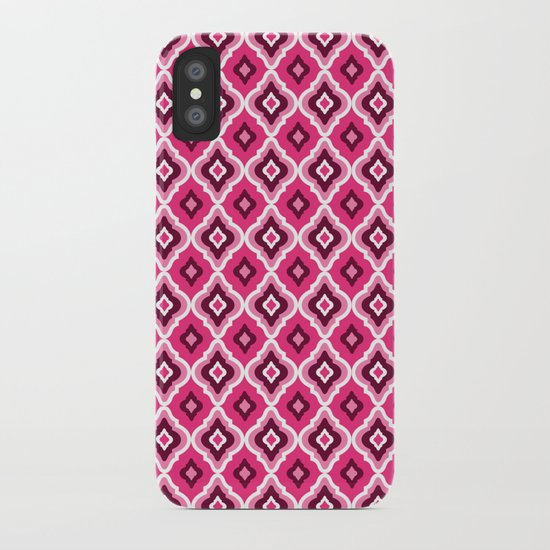 Morrocan Manor in Pink iPhone Case