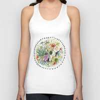 succulents Tank Tops featuring Succulents Mandala by Hannah Margaret Illustrations