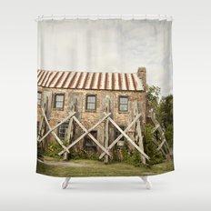 in repair::charleston Shower Curtain