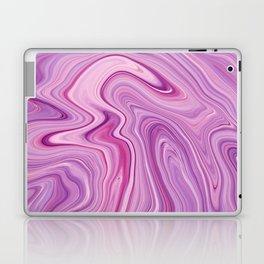 Purple Liquid Marble Laptop & iPad Skin