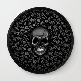 smile skull Wall Clock