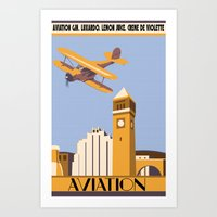 aviation Art Prints featuring Aviation by Pixel & Pint