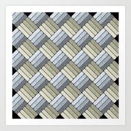 Pattern Play in Grays Art Print