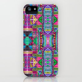 Tribal Patchwork Pink iPhone Case