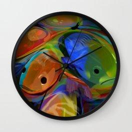 slippery fish Wall Clock