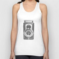type Tank Tops featuring Vintage Camera by Ewan Arnolda