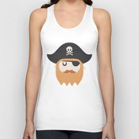 pirate Tank Tops featuring Pirate by Beardy Graphics