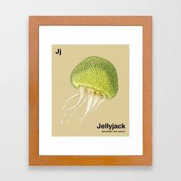 Jj - Jellyjack // Half Jellyfish, Half Jackfruit Framed Art Print