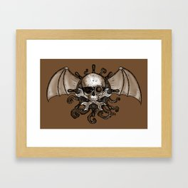 Airships and Tentacles SkullWheel Glyph Framed Art Print
