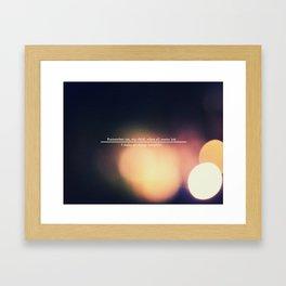 Remember Me... Framed Art Print