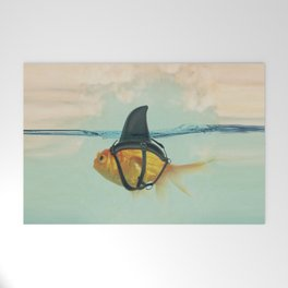 Brilliant DISGUISE - Goldfish with a Shark Fin Welcome Mat