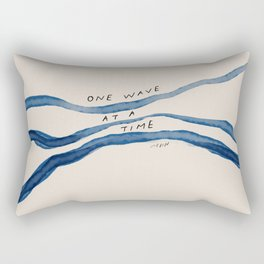 """One Wave At A Time"" Rectangular Pillow"