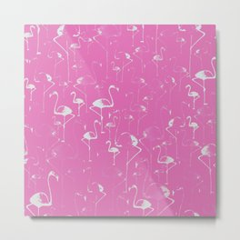 Flamingo Love Collection Metal Print