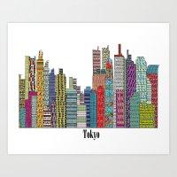 tokyo Art Prints featuring Tokyo by bri.buckley