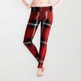 Red + Black Plaid Leggings