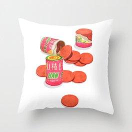 Haw Flakes Throw Pillow
