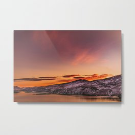 Colorado Winter Sunset Metal Print