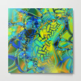 Abstract Layering Metal Print
