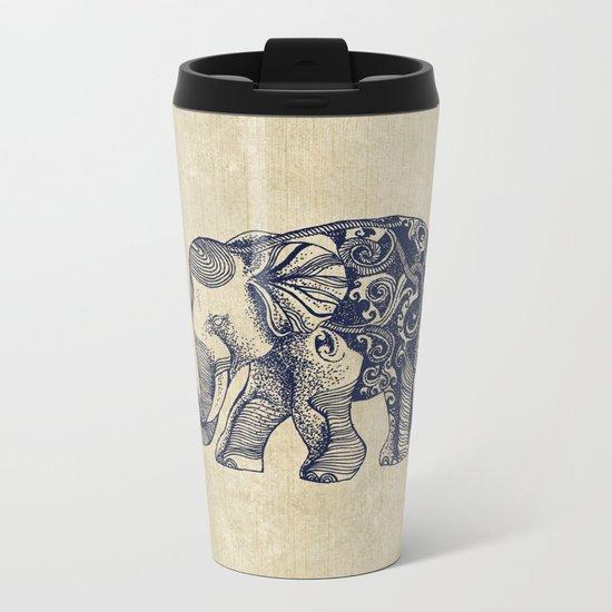 Simple Elephant Metal Travel Mug