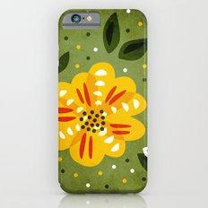Abstract Yellow Primrose Flower iPhone 6s Slim Case