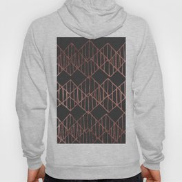 Artistic abstract black faux rose gold geometrical Hoody