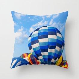 Vibrant Hot Air Balloons Throw Pillow