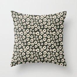 Camofloral Green Throw Pillow