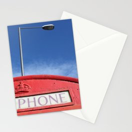 british telephone booth Stationery Cards