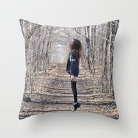 ghost Throw Pillows featuring Ghost by Valerie Bee