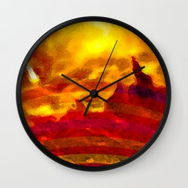 The Red Planet. Wall Clock