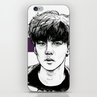 exo iPhone & iPod Skins featuring Sehun EXO Exodus by fabisart