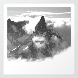 DENT DU GEANT, CHAMONIX Art Print