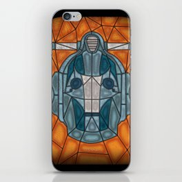 cyberman stained glass iPhone Skin
