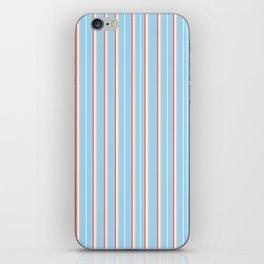 Blue Stripe Pattern iPhone Skin