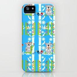Cute pair of koalas iPhone Case