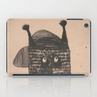 hip hop iPad Cases featuring Hip hop cat by KRADA ZHAN ART