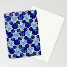 Mickey Arrows in Blue and Gray Stationery Cards