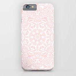 Blush Pink and White Mandala iPhone Case