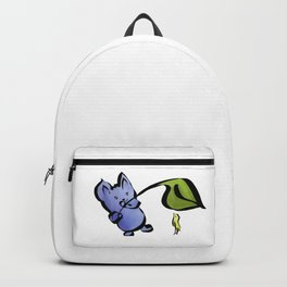 Good Friends Cute Animal Watercolor Painting with Mouse and Bird Backpack