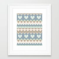 knitting Framed Art Prints featuring knitting by alisblack