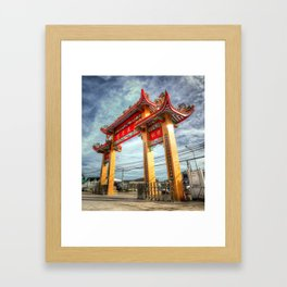 Chinese Temple Gate Thailand Framed Art Print
