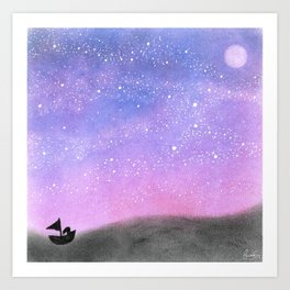 Sailing Amongst the Stars Art Print