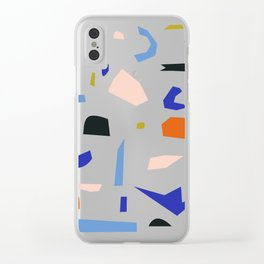 Shapes Pattern Clear iPhone Case