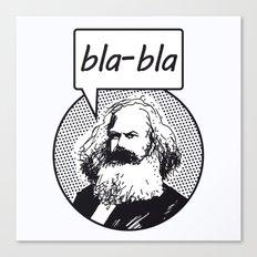 bla-bla Canvas Print