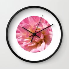 PINK DAHLIA CROWN IX Wall Clock