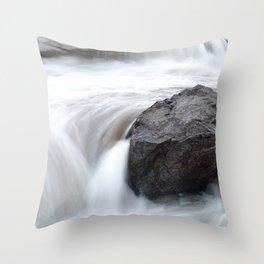 Apex Falls, Apex, Nunavut Throw Pillow