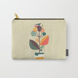 Potted plant with a bird Carry-All Pouch